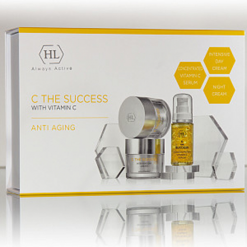 Holy Land C the SUCCESS KIT  | CONCENTRATED VITAMIN C SERUM 30 ml, C THE SUCCESS INTENSIVE DAY CREAM 50 ml, C THE SUCCESS CREAM 50 ml.